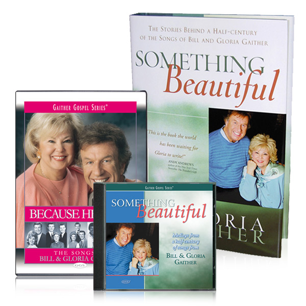 Because He Lives DVD, Something Beautiful CDs and Book