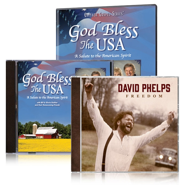 God Bless The USA DVD/CD w/bonus David Phelps Freedom CD