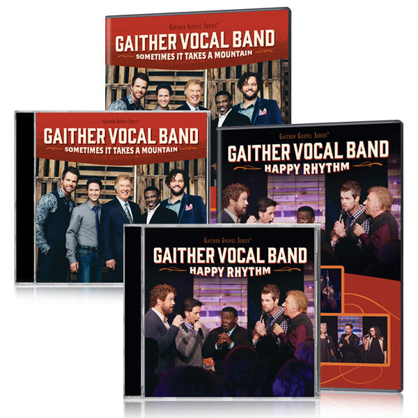 Gaither Vocal Band: Sometimes It Takes A Mountain & Happy Rhythm DVDs & CDs