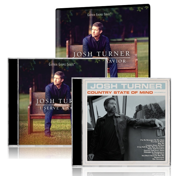 Josh Turner: I Serve A Savior DVD/CD w/ Country State Of Mind CD