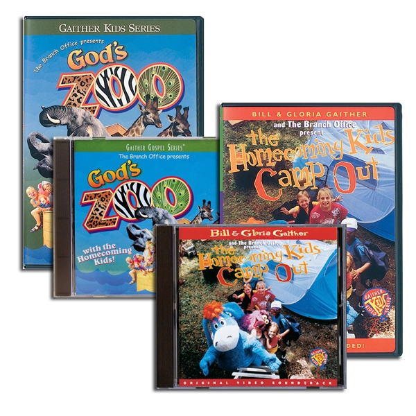 Gods Zoo/Homecoming Kids Camp Out DVDs & CDs