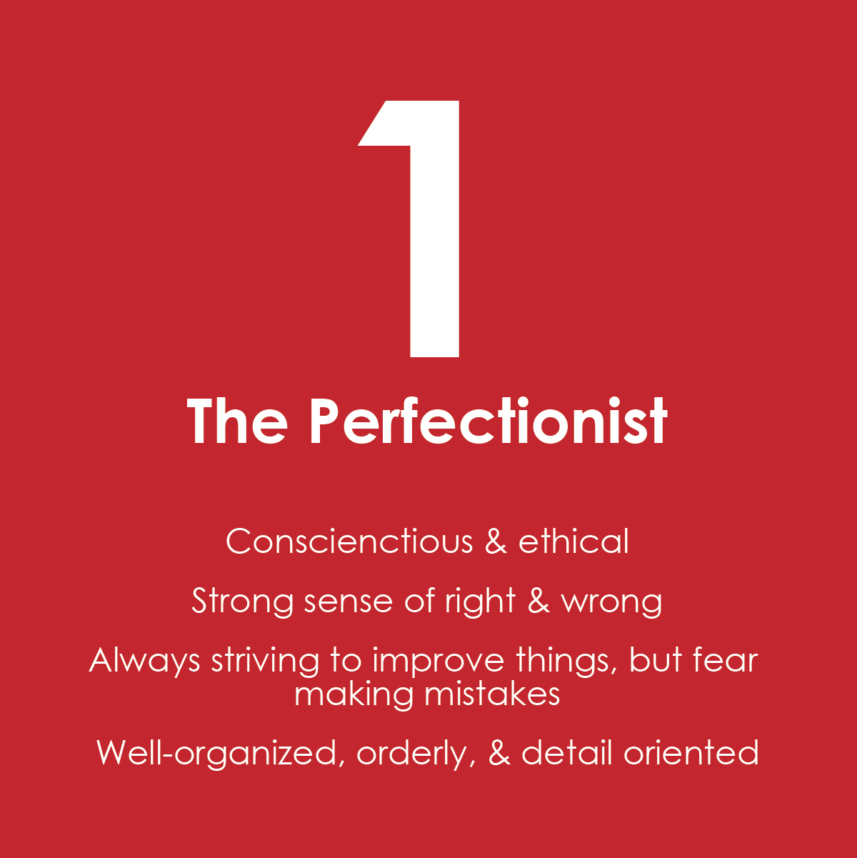 Enneagram One - The Perfectionist
