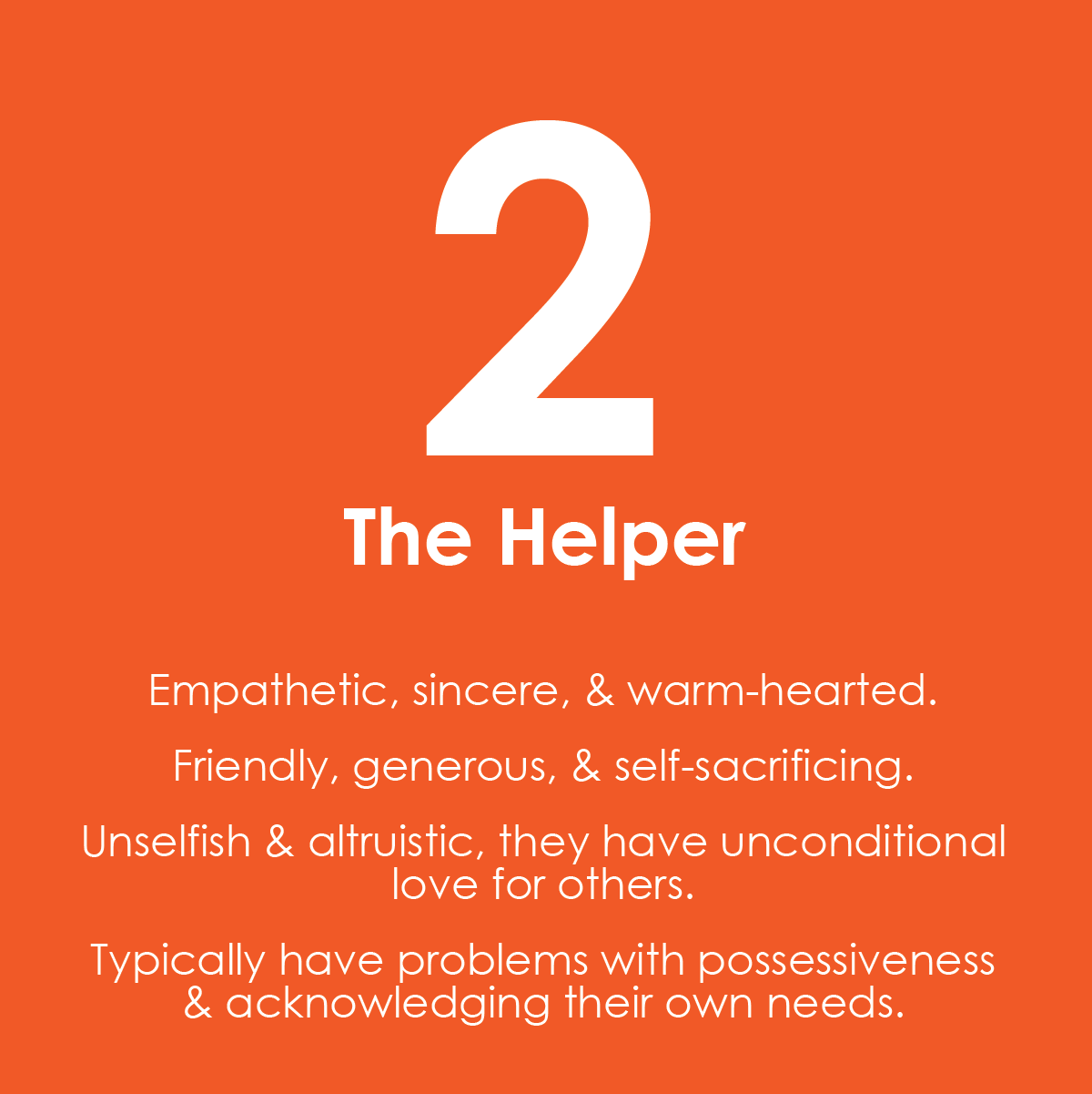 Enneagram Two - The Helper