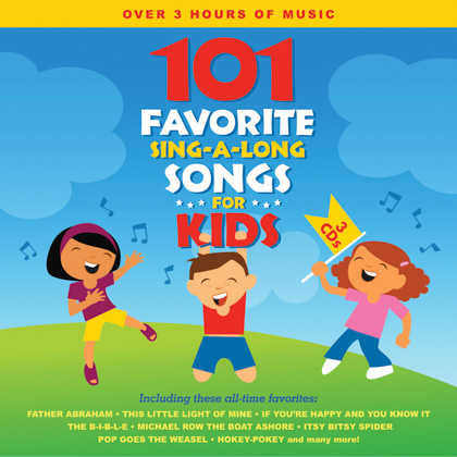 101 FAVORITE SING-A-LONG SONGS FOR KIDS - 3 CDS