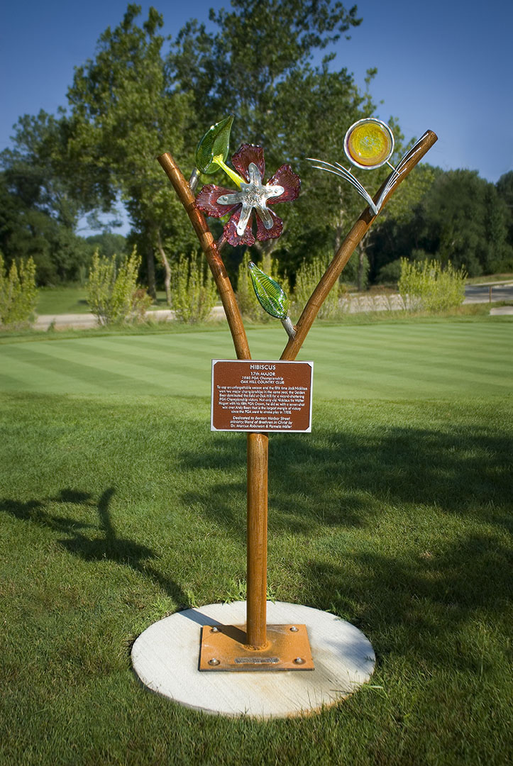 The Tee Markers of Harbor Shores: Flame & Flower, Glass & Steel