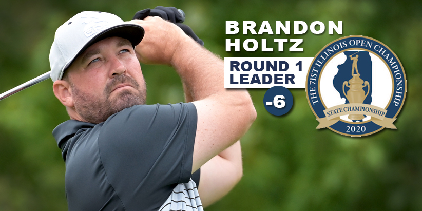 Holtz Sets Modern-Day Course Record, Holds Three Stroke Lead