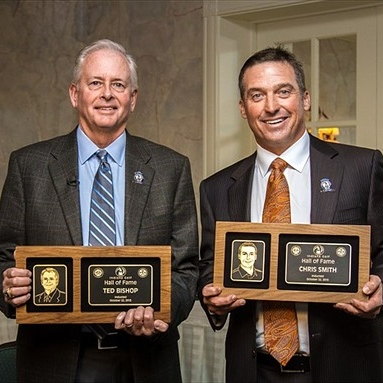 President of the PGA of America, Ted Bishop (left) and PGA Tour Player Chris Smith (right)
