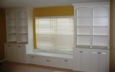 Custom Cabinets Around Window