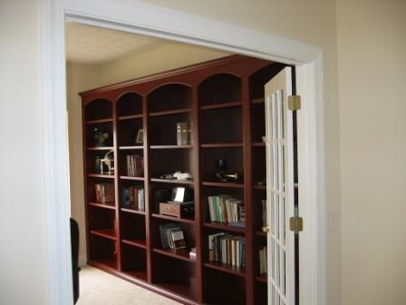 Custom Bookcase in Office