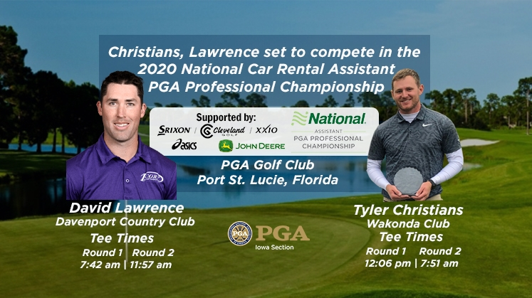 Christians, Lawrence Set to Compete in 2020 National Car Rental Assistant PGA Professional Championship