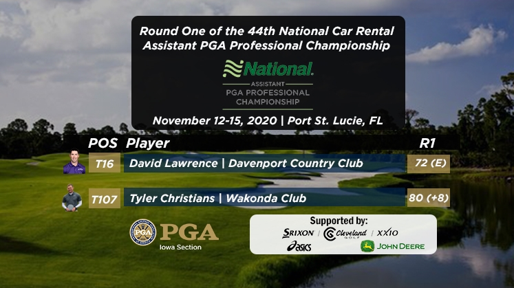 Christians, Lawrence Complete Round 1 at National Car Rental Assistants PGA Professional Championship