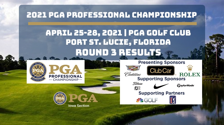 Round Three Results of the 2021 PGA Professional Championship