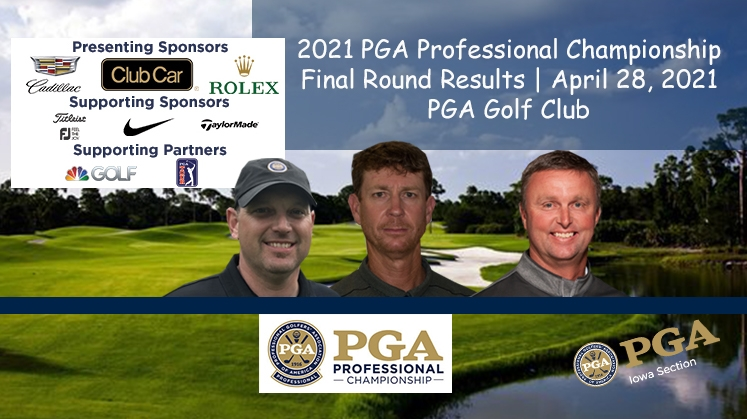Fisher, McCarty & Schmid Final Results of the 2021 PGA Professional Championship