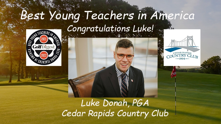 Donah Announced as one of the 2021 Golf Digest Best Young Teachers in America