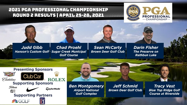 Round Two Results of the 2021 PGA Professional Championship