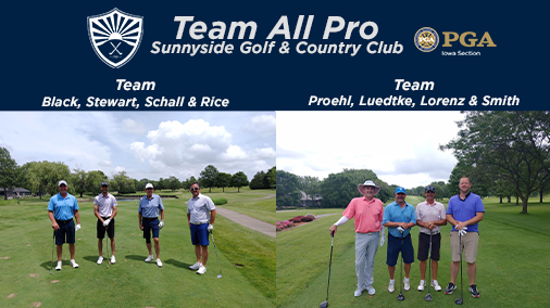 Teams Proehl and Black Tie for First Place at Team All Pro