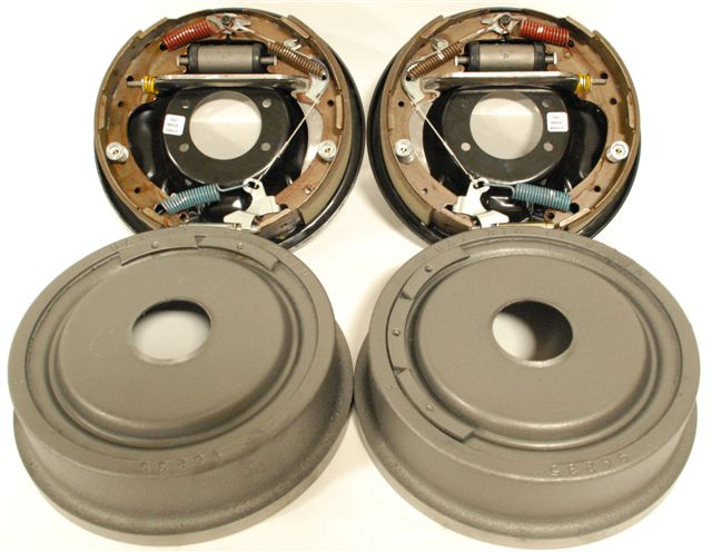 "Part # 6010 - Drum Brakes for Big Ford New Style (Torino) Housing Ends (2.50"" Offset)"