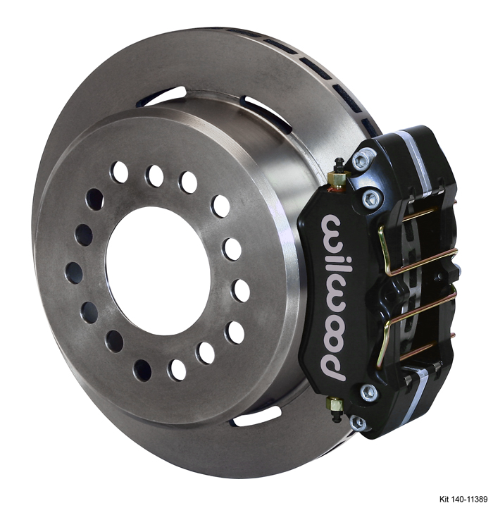 140-11392 - Wilwood Dynapro L/P Brake Kit With Parking Brake - New Big Ford (2.5 Offset) Staggered