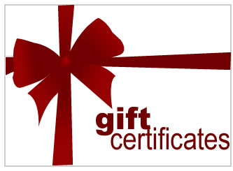 Moser Gift certificates are available in multiple denominations and are serialized, stamped, embosse