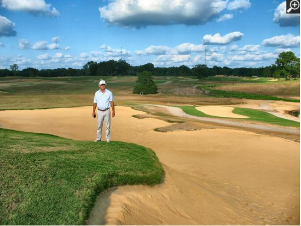 Larry Rea/Special to the Commercial Appeal George Bryan, a founder of Old Waverly Golf Club in West Point, Miss., is teaming with outdoors icon Mossy Oak on a new golf course. Bryan wanted lots of bunkers on the 7,400-yard, par-72 course, which is planned