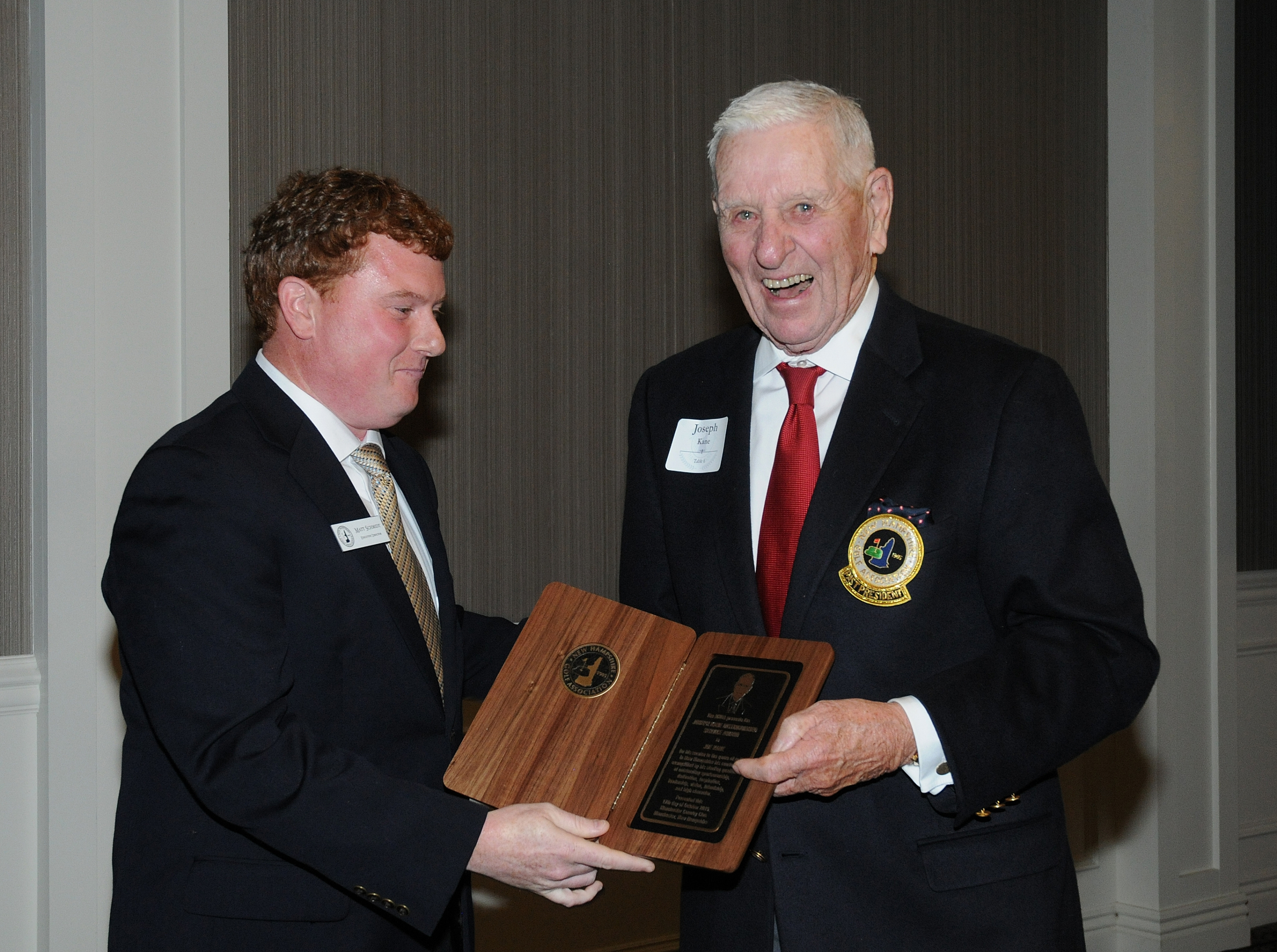 Joe Kane Honored with First-Ever NHGA Distinguished Service Award