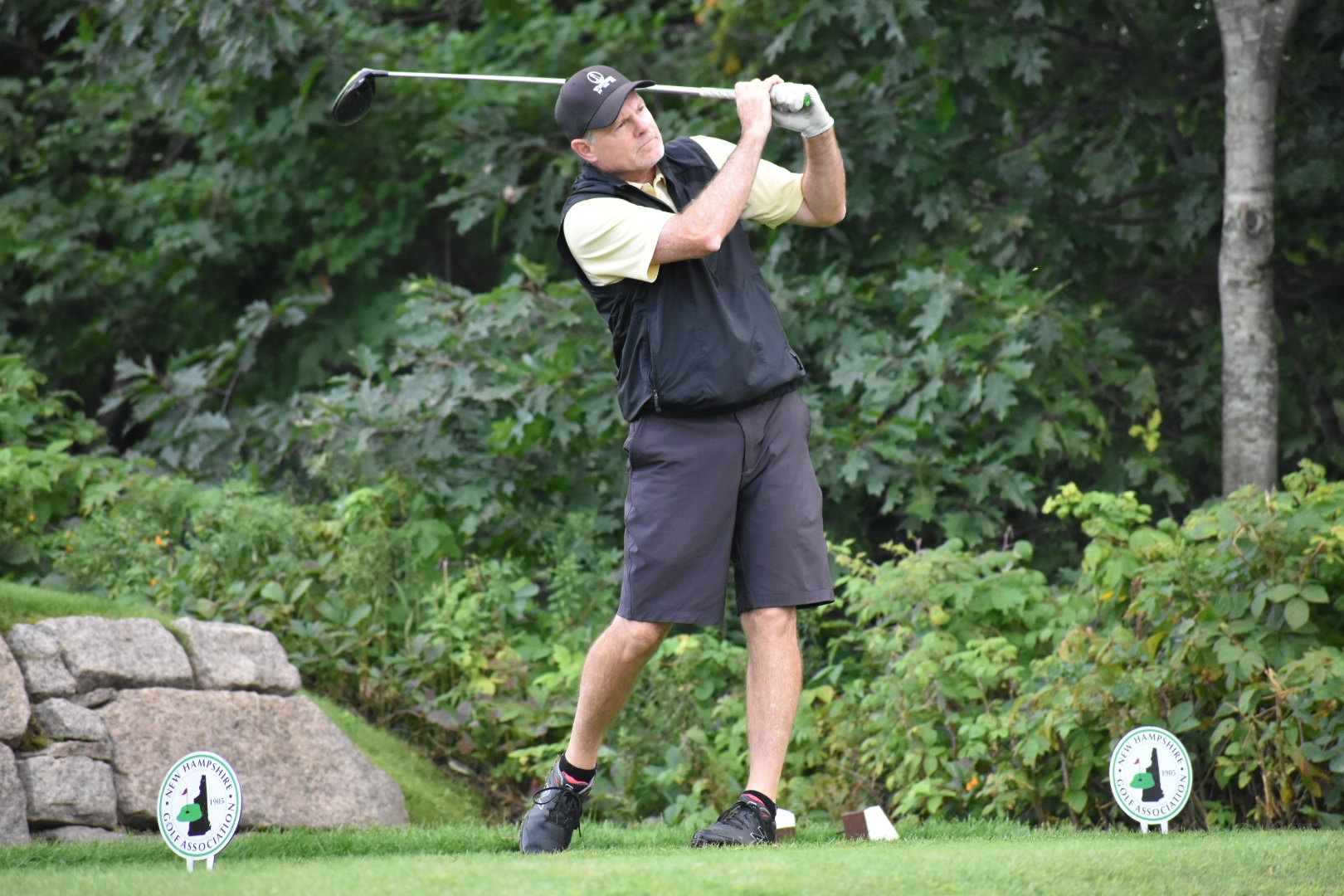 Fournier Finds Stride:  Leads NH Senior Following Round One