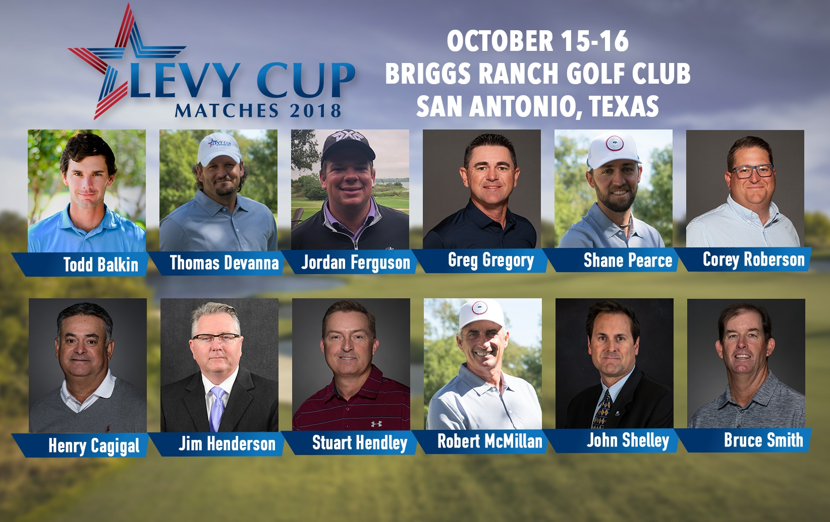 Northern Texas PGA Announces Levy Cup Team