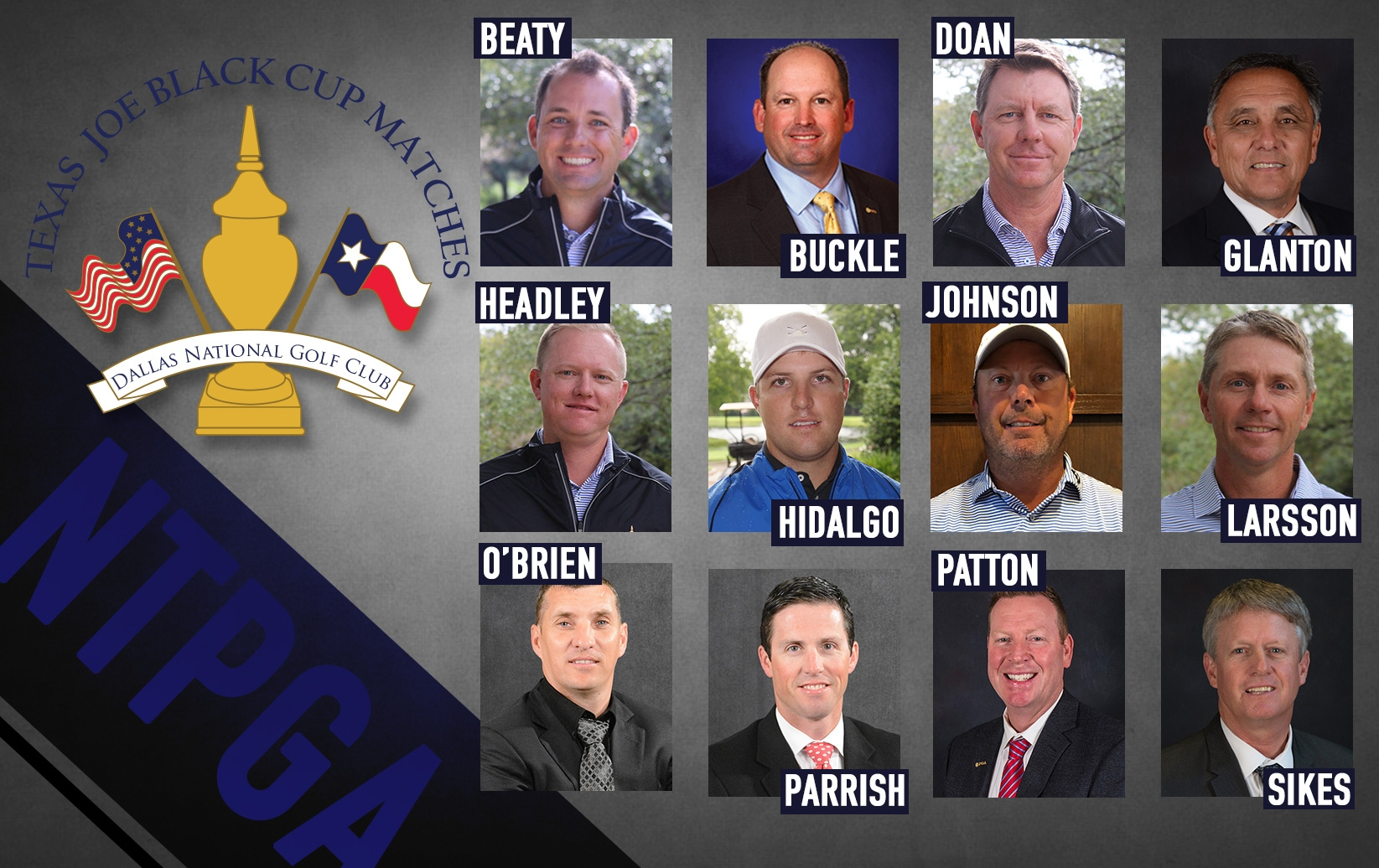Northern Texas PGA Announces Texas Joe Black Cup Team