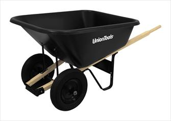Union Tools Double Wheel Steel Wheelbarrow Landscaping Equipment