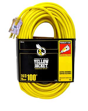 Outdoor Heavy Duty 100 Extension Power Cord