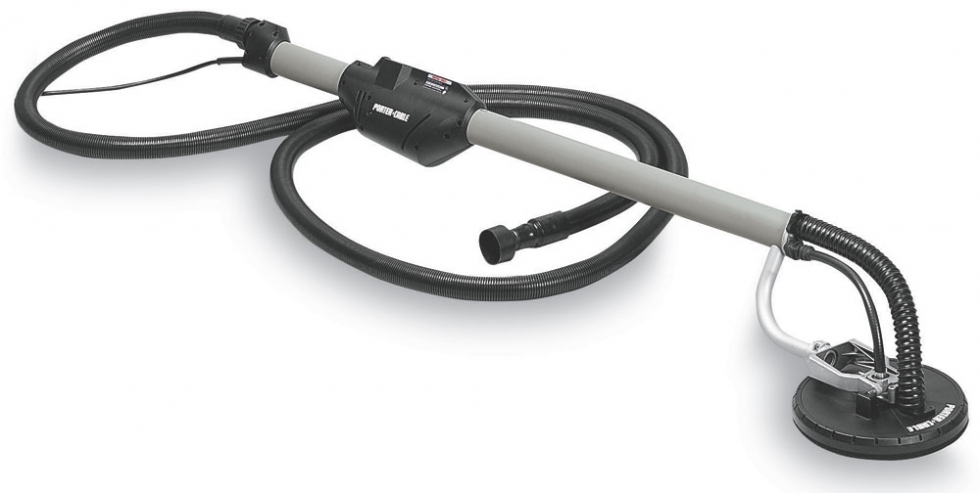 The Porter Cable 7800 4.7 Amp Drywall Sander Contractor Tool Rental is long enough to sand 10 foot c