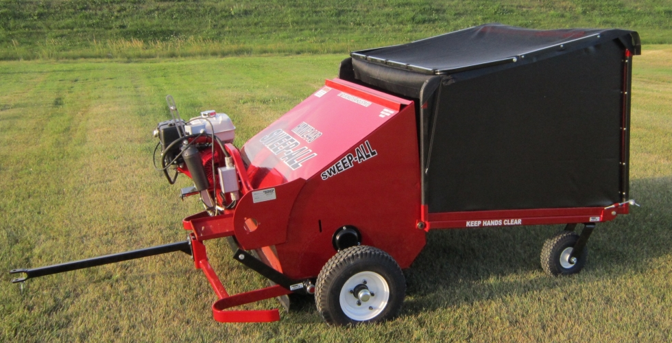 Gas-Powered Towable Lawn Sweeper & Leaf Vacuum