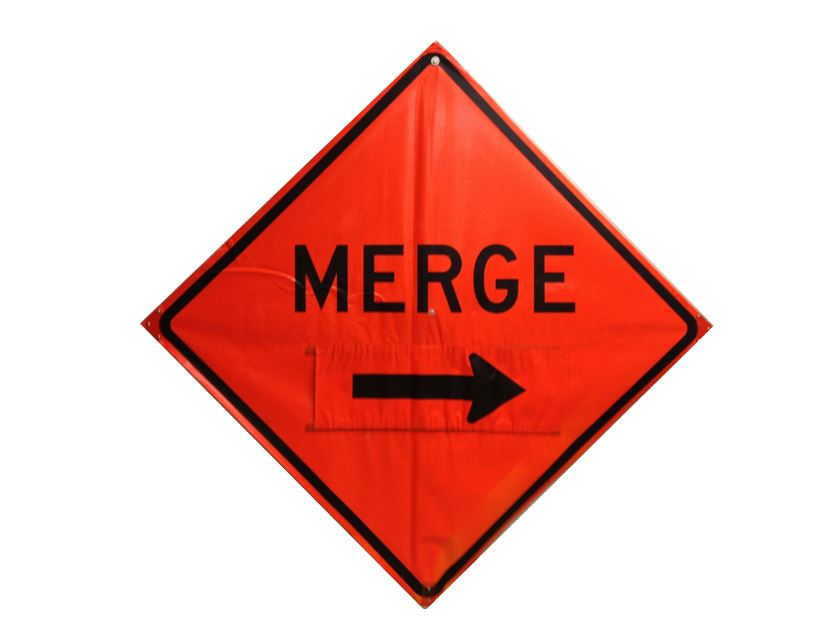 Merge Safety Traffic Sign With Velcro Arrow Survey Equipment Rental