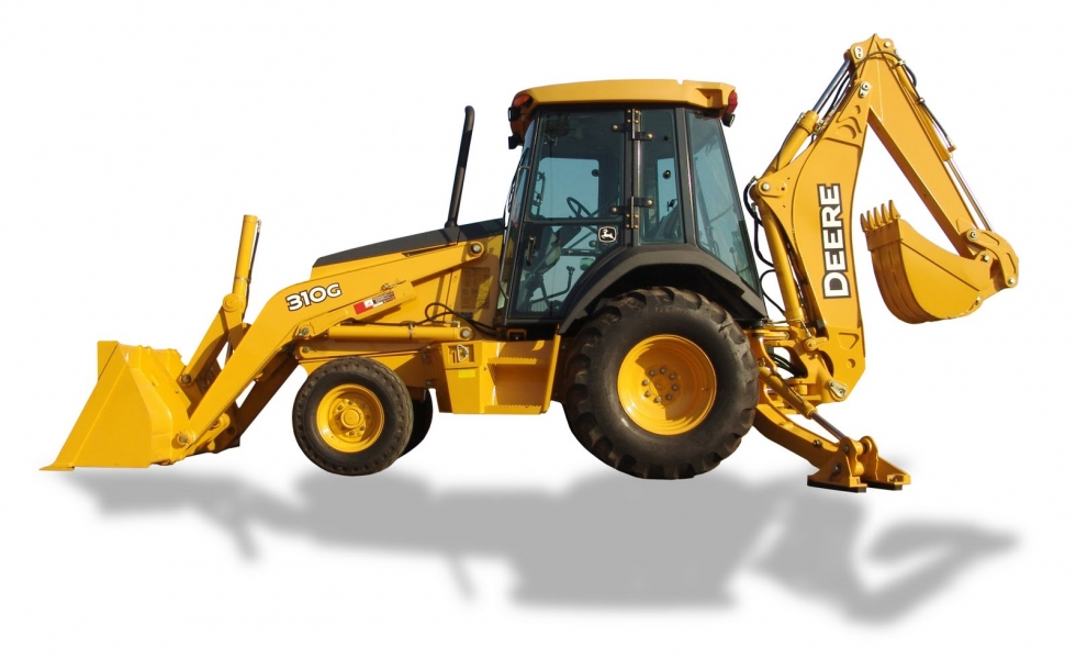 4X4 ENCLOSED CAB BACKHOE