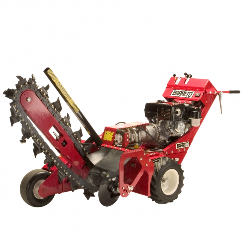 """4""""W X 30""""D Walk-Behind Tire Trencher"""