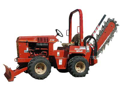 """6""""W X 48""""D Ride-On Trencher"""