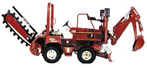 """8""""W X 52""""D Ride-On Trencher with Backhoe"""