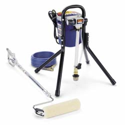 AIRLESS PAINT ROLLER AND SPRAY SYSTEM