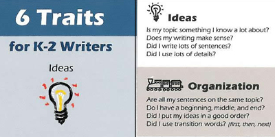 6-Traits of Writing Bookmarks for Primary Writers