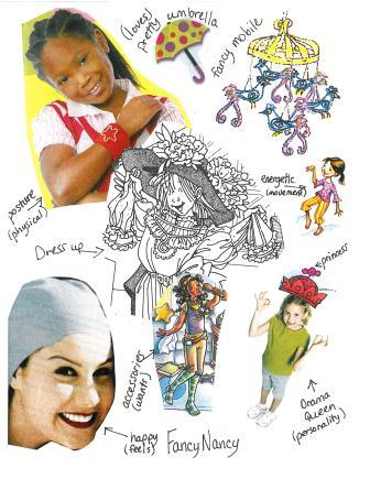 character collage fancy nancy