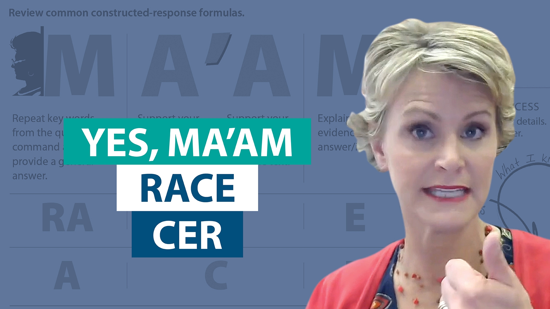 How does Yes MAAM fit with RACE and CER?