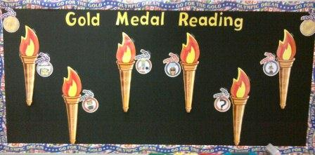 Gold Medal Reading Bulletin Board