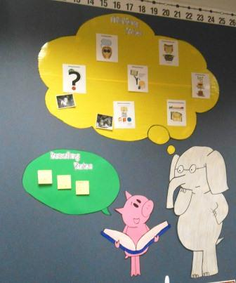 Elephant & Piggie Reading Comprehension bulletin board