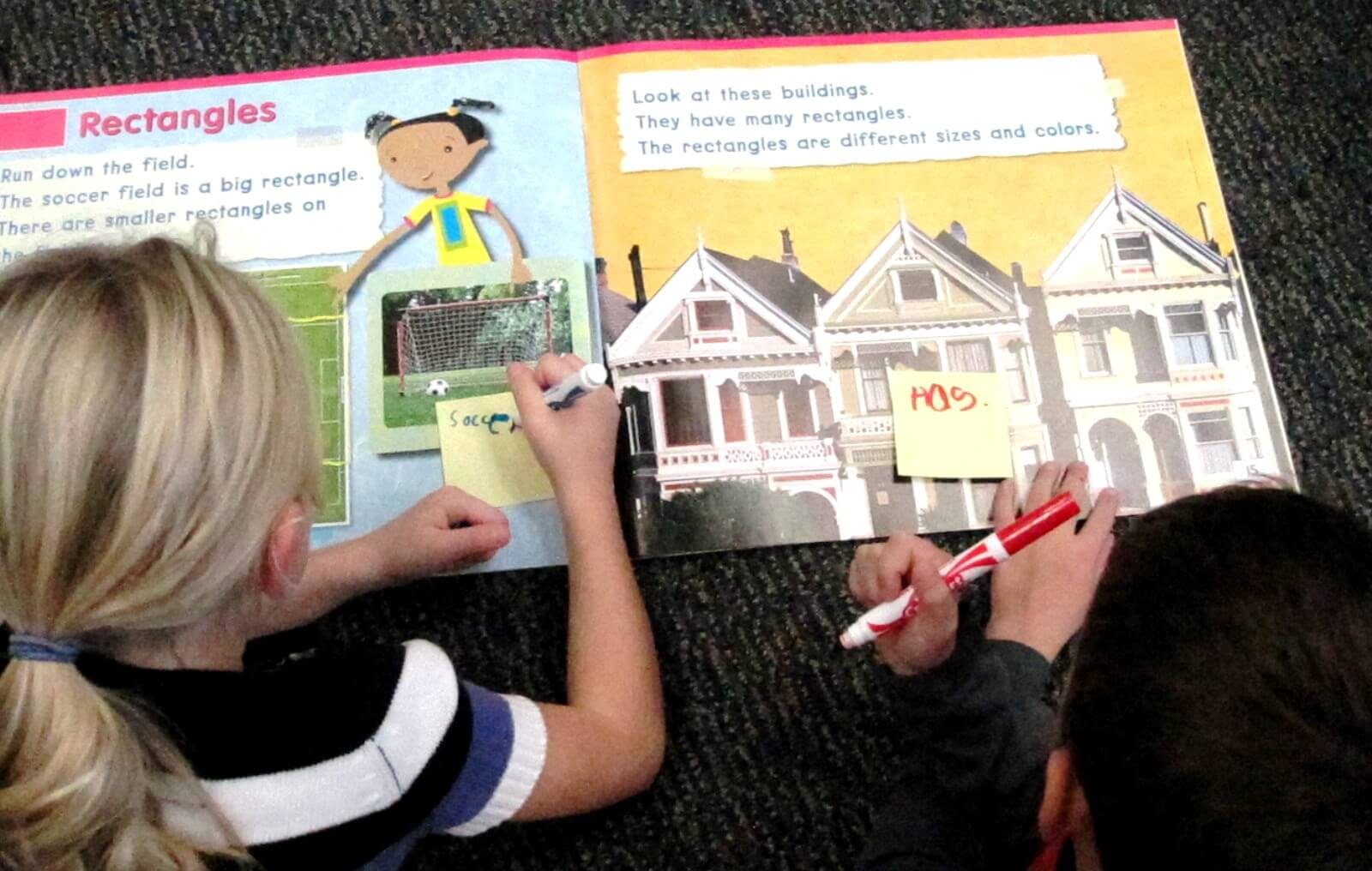 Label Big books to check comprehension through retelling