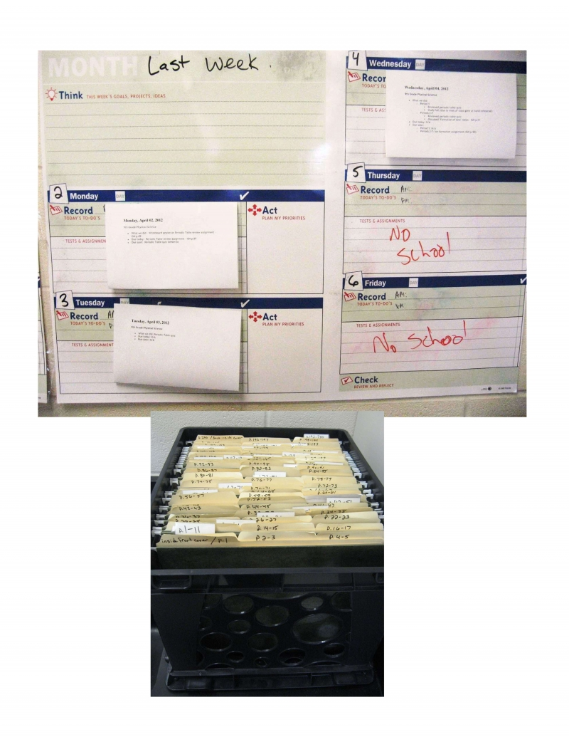 File-Folder System for make-up work