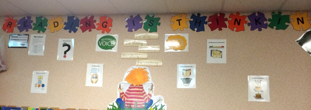 Tracy Christman's Reading Comprehension Bulletin Board