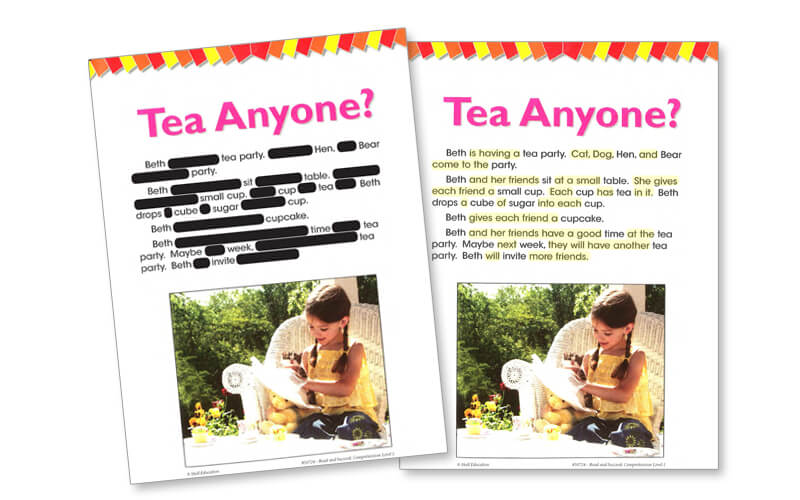 Tea Anyone? High-Frequency Words Example