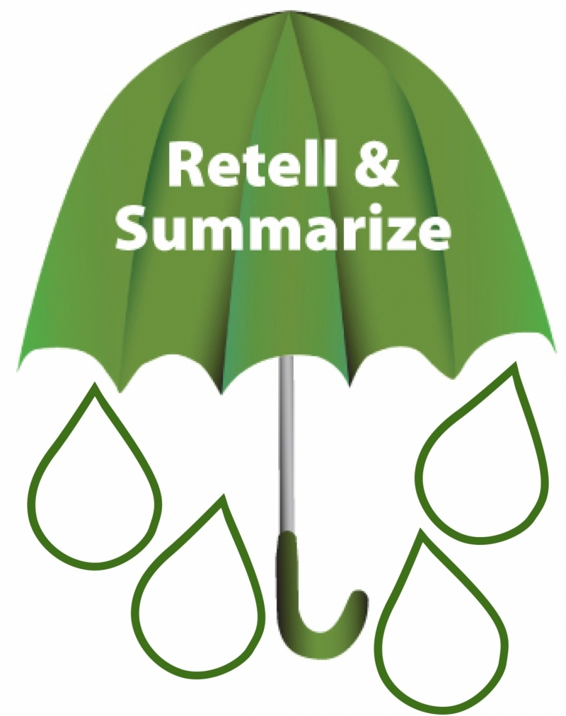 Retell & Summarize Umbrella and Raindrop Skills