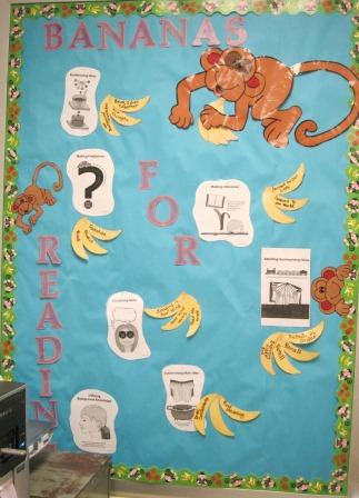 Bananas for Reading Comprehension Bulletin Board