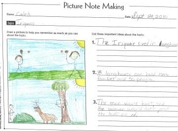 Example of picture based note taking